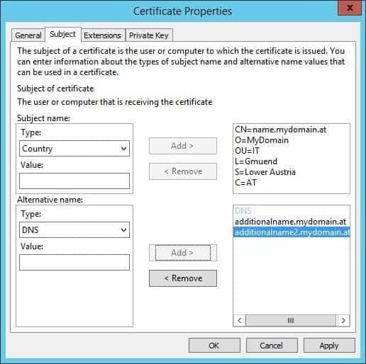 csr (cerfiticate signing request) – windows iis