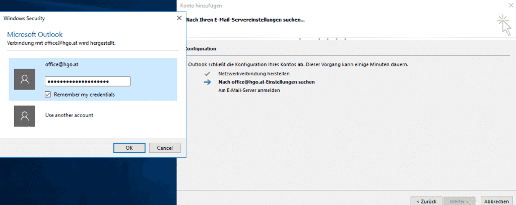 einrichtung von hosted exchange mit outlook (direct – setup)