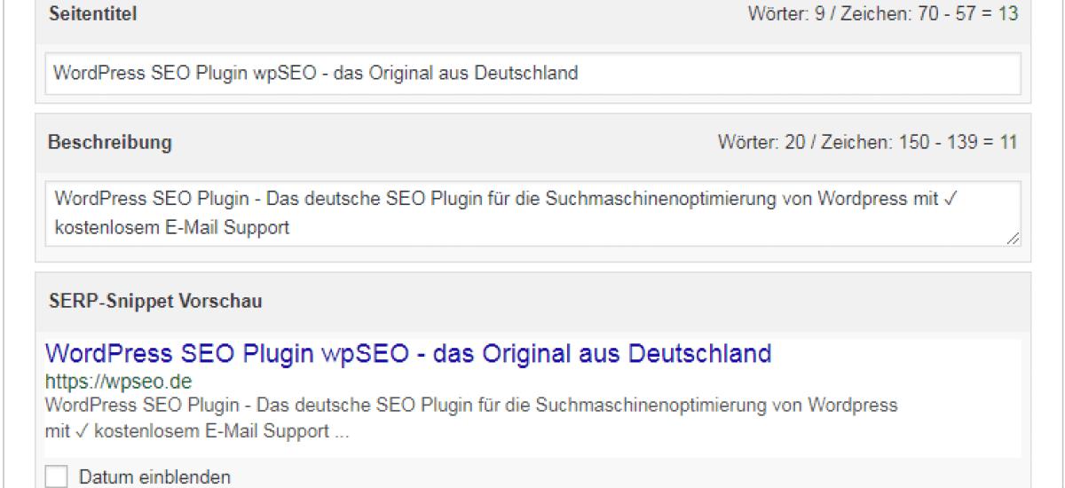 wpseo–daswordpress seo plugin